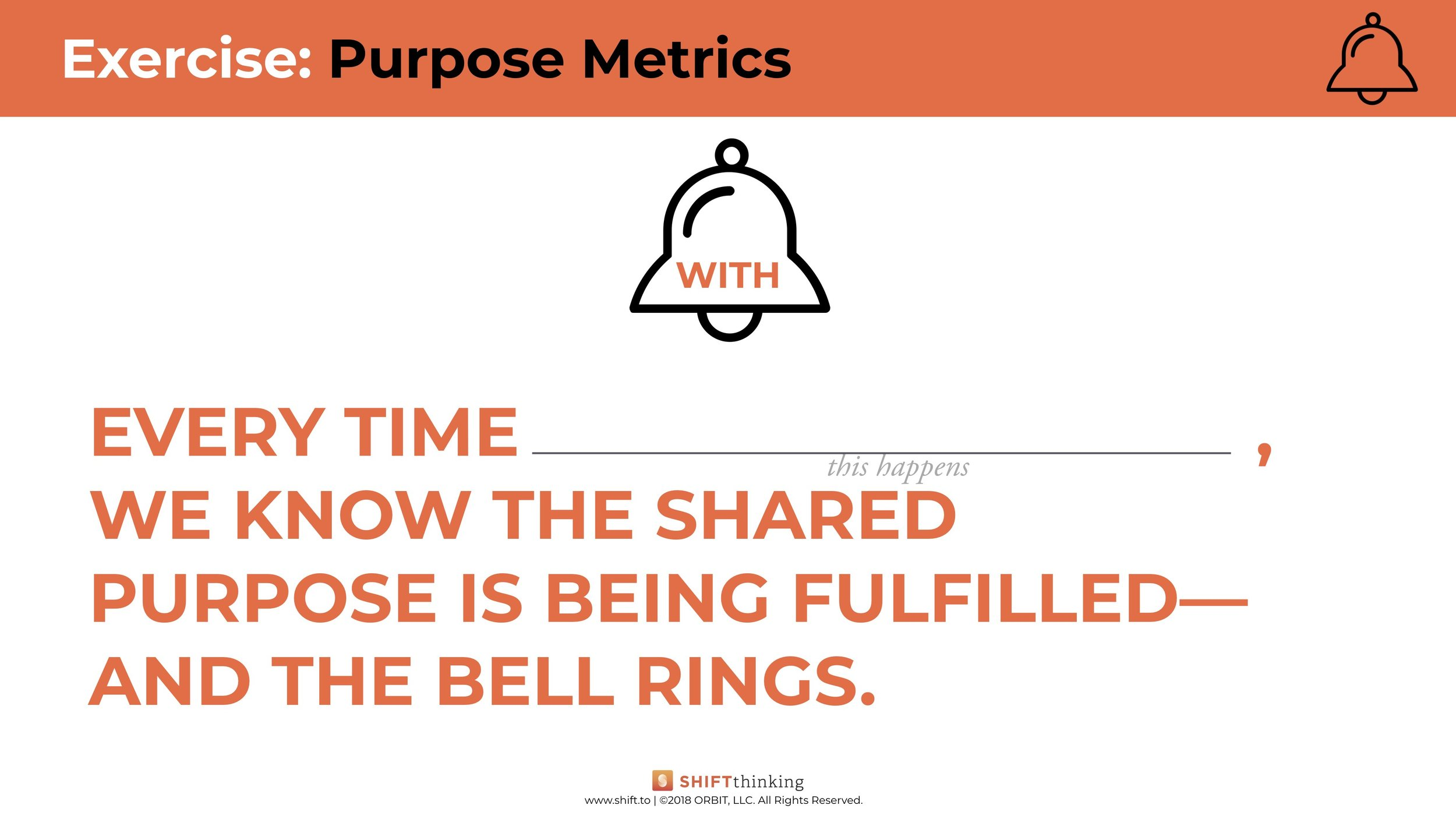 Exercise: Purpose Metrics