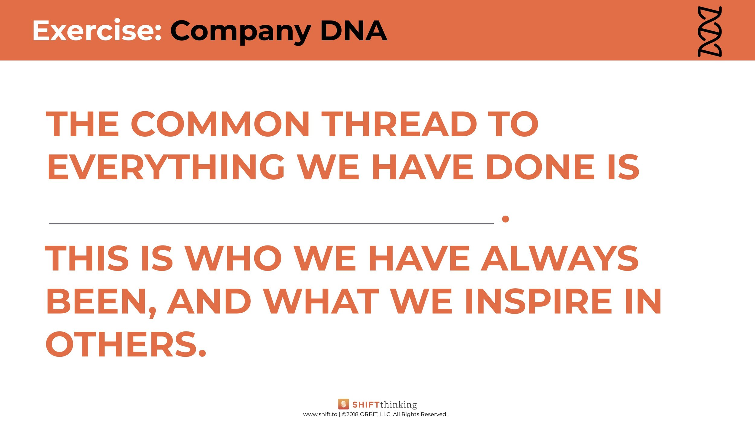 Worksheet: Finding Your Company DNA