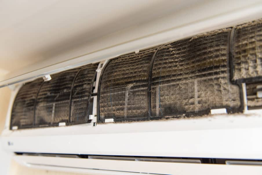 Presence of mold in air system