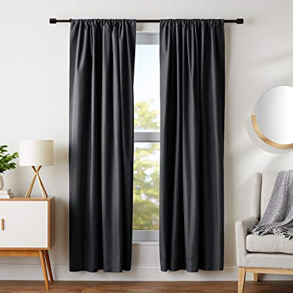 blackout curtains in the house
