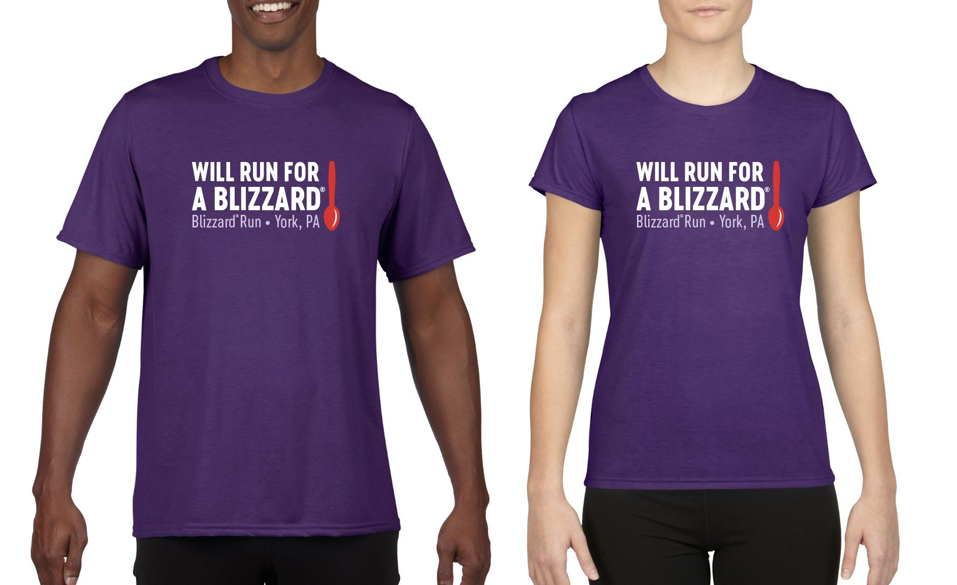 Official 2019 Blizzard Run Race Shirts!