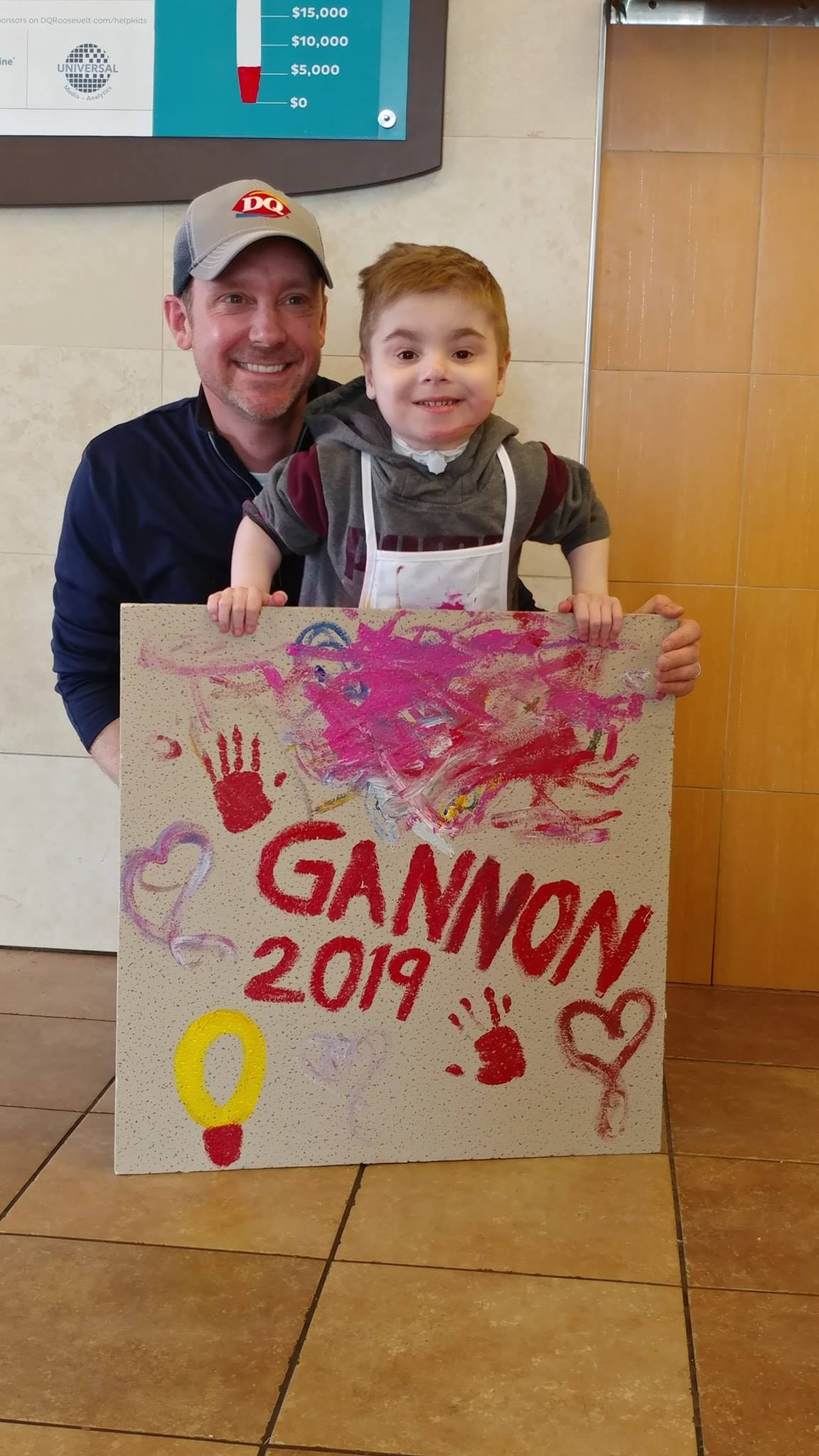 Gannon came to DQ Roosevelt this year as our official 2019 Miracle Child of DQ Roosevelt. He painted a ceiling tile to put his amazing personality in our store forever!