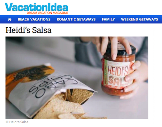 "VACATION IDEA - May 2019""Heidi's Salsa is changing the game for salsa lovers"" -"