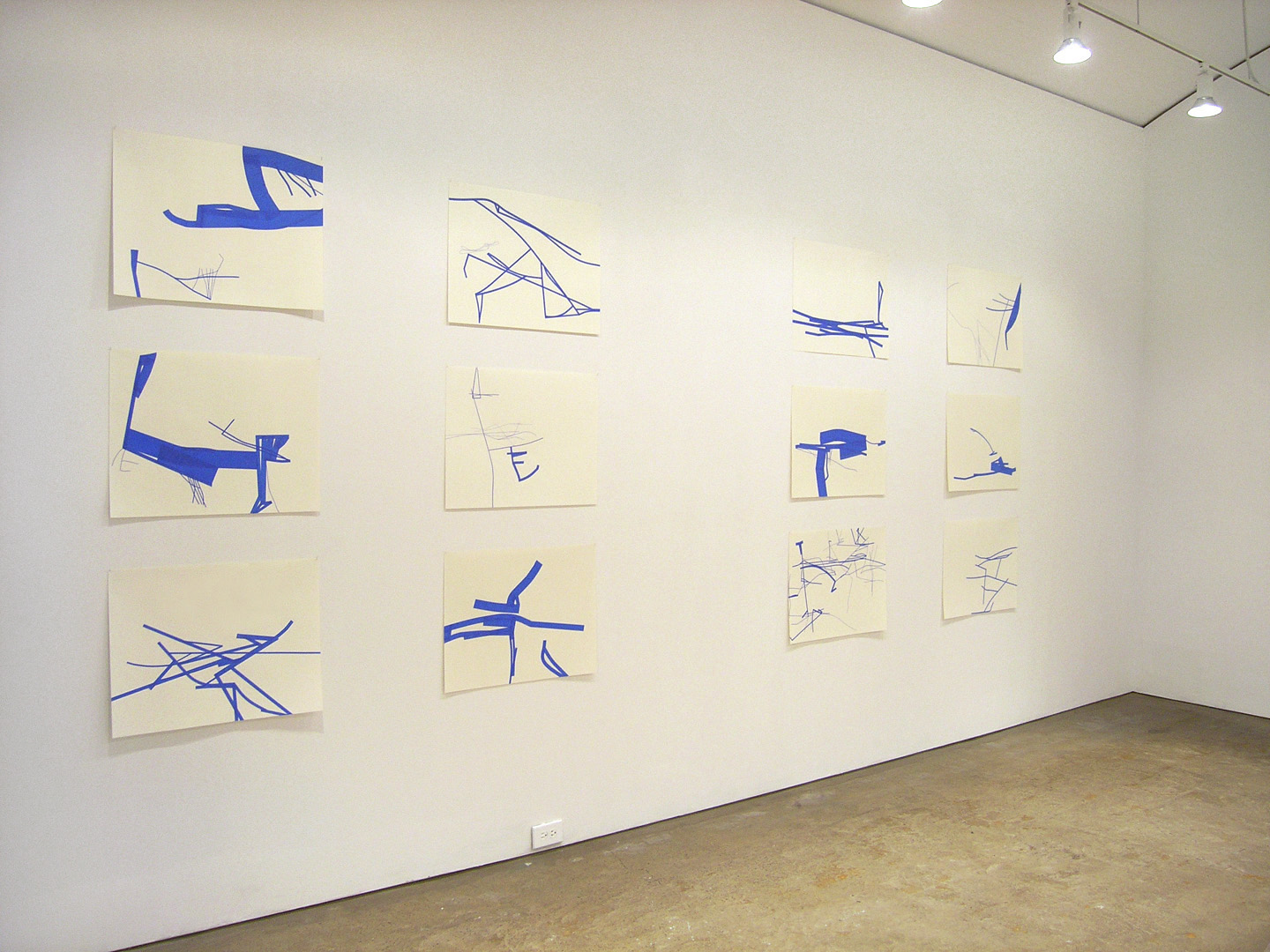Christine Hiebert: Drawing as Structure    Gallery Joe, Philadelphia, 2004