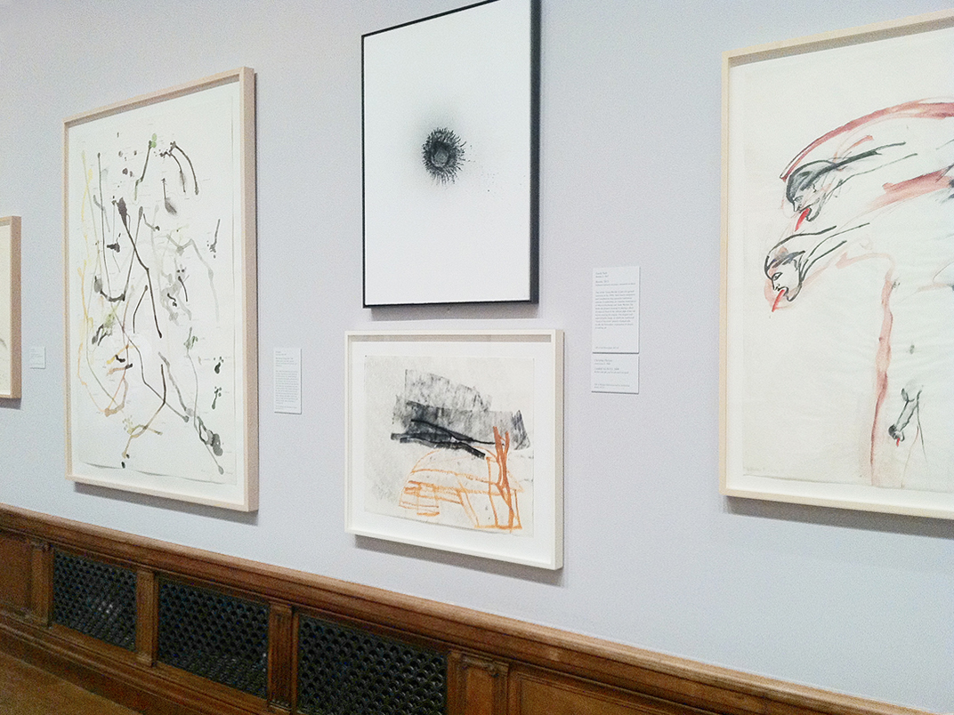 work on view in    Embracing Modernism: Ten Years of Drawings Acquisitions,     The Morgan Library and Museum, 2015