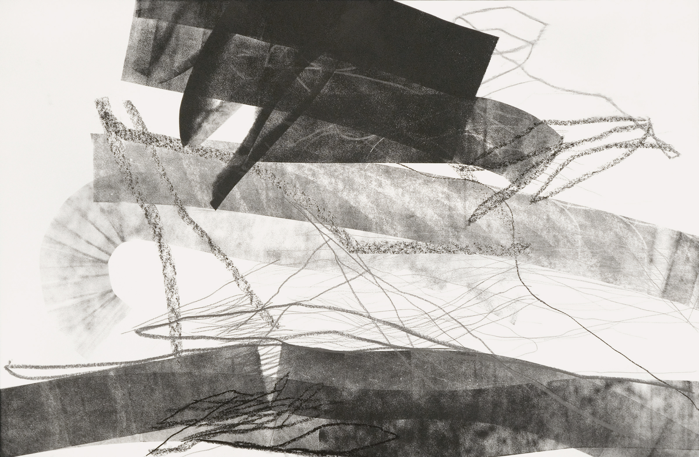 Untitled (rd.08.60), 2008 ink, charcoal, graphite on paper 26 x 40 inches