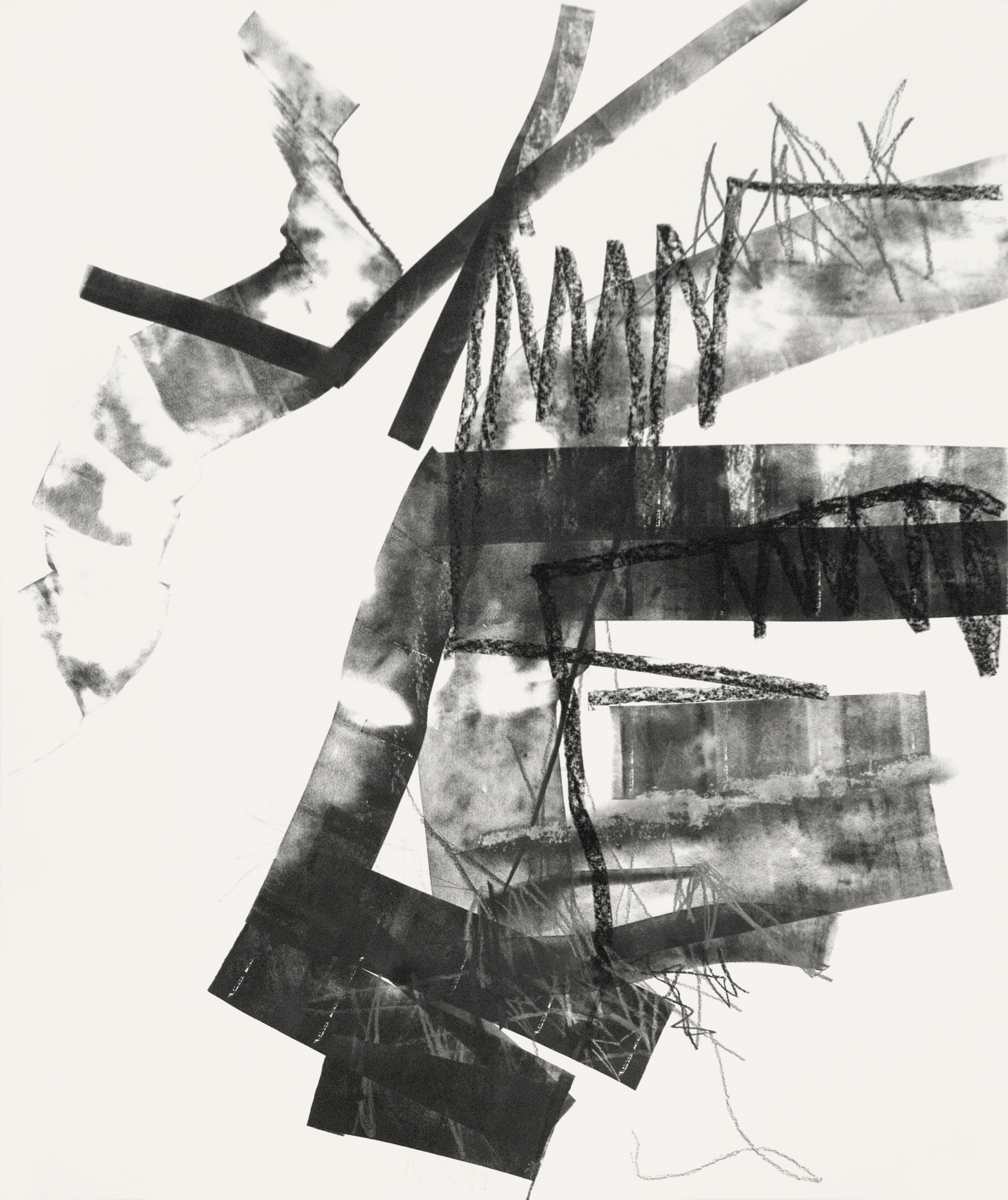 Untitled (rdl.10.3), 2010 ink, charcoal, graphite on paper 50 x 42 inches