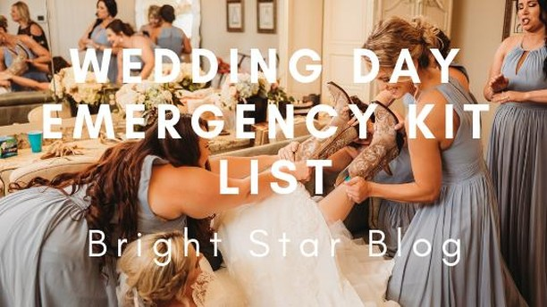 NEW BLOG POST! Happy Friday! As promised, here's a new blog post to kick off your weekend! What item in your emergency kit saved you at your wedding??? Let us know in the comments below! - - -  #brightstarranch #brightstartx #texaswedding #texasweddingvenue #wedding #chapel #engagement #brightstarblog