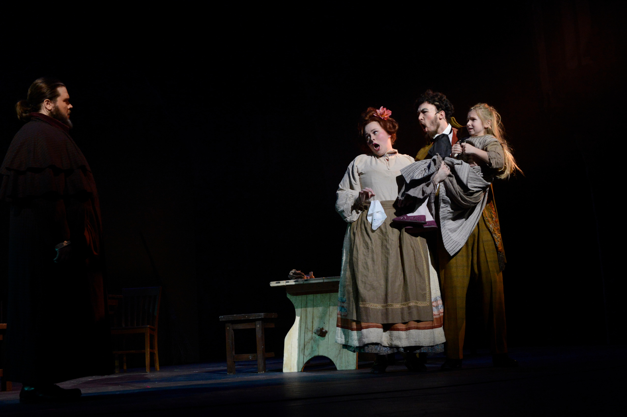 Cassi as Madame Thenardier in Wright State University's production of  Les Misérables