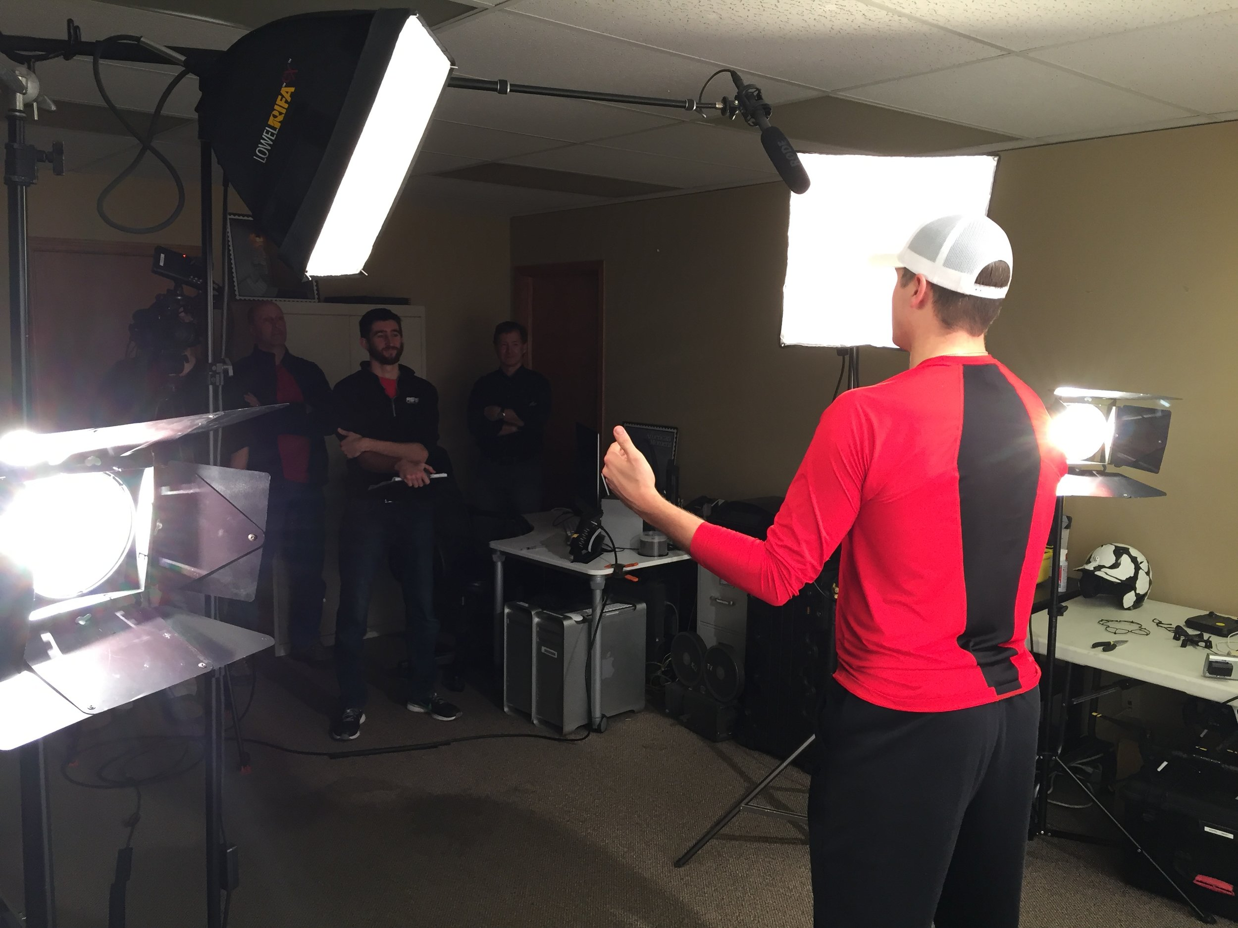 Sometimes we get to work with stars on the field, like Mike Morin of the Los Angeles Angels, thanks to our partnered company All Star Video Sports. Just another part of our job that makes work, not so much work.