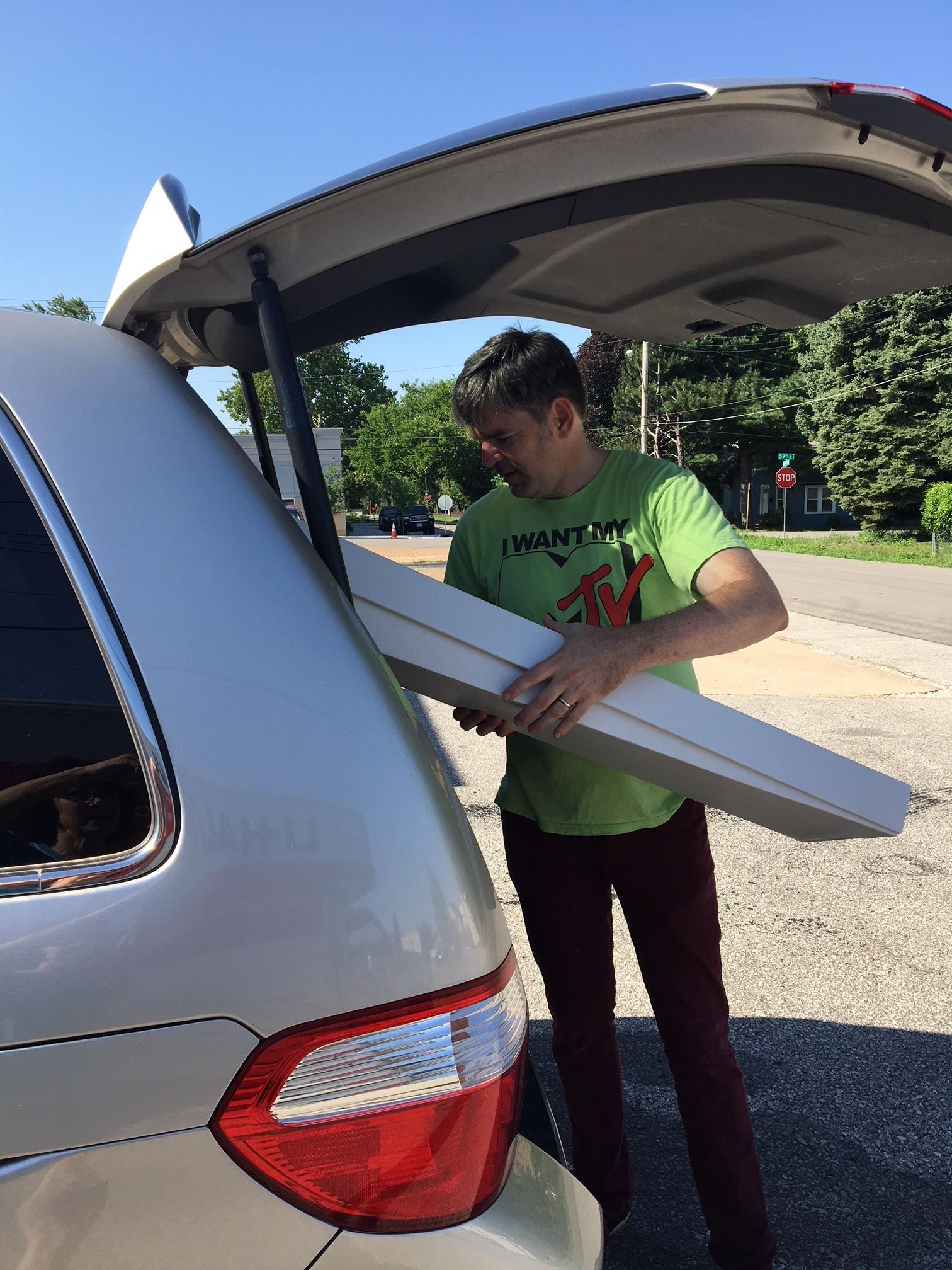 Todd fills the van