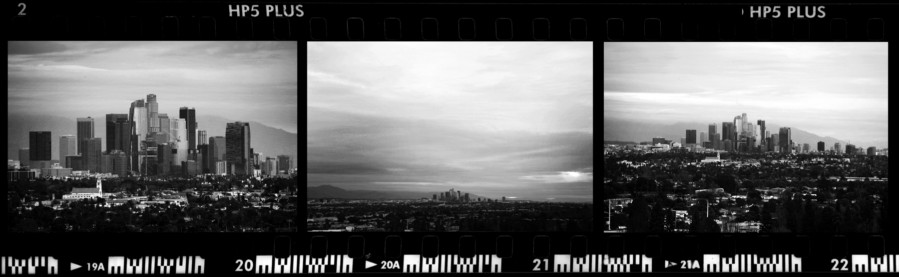 Culver City. Overlooking South Central towards downtown Los Angeles.