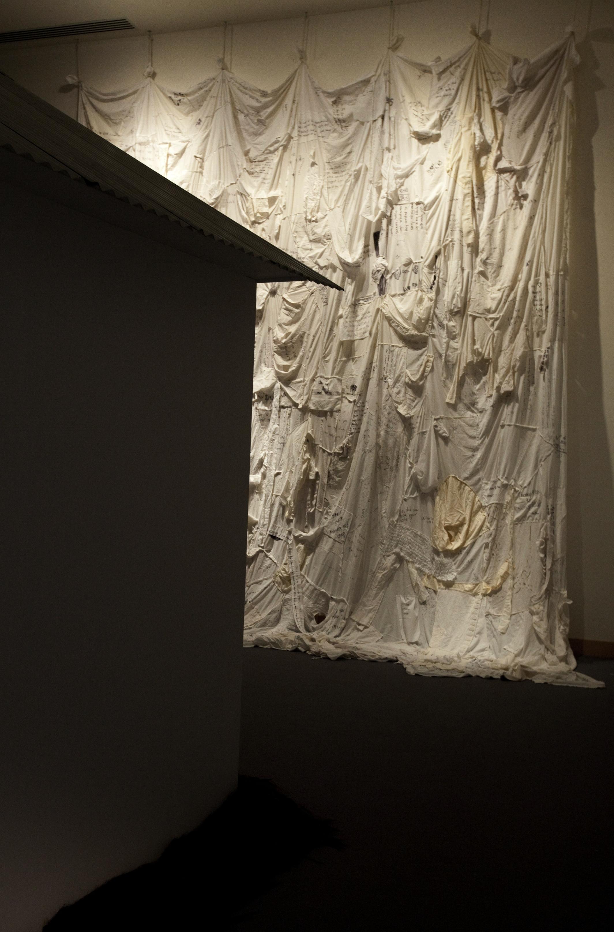 Clothesline,  Installation shots. Boca Raton Museum of Art, 2016.