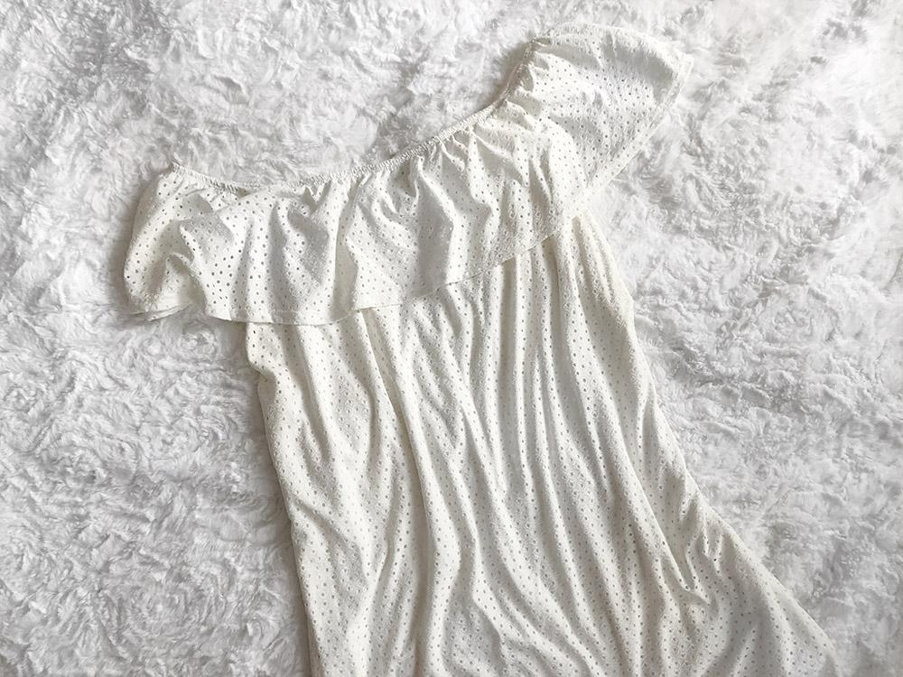 Maurices Eyelet Knit Off the Shoulder Dress