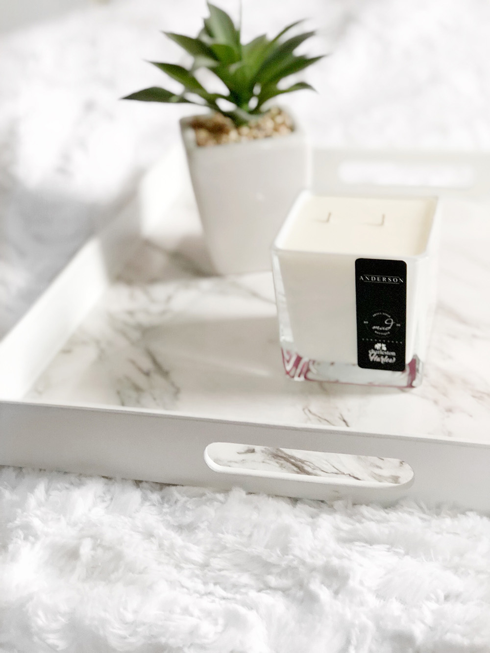 President's Choice Marble Tray and Charleston & Harlow Mad About Style Candle