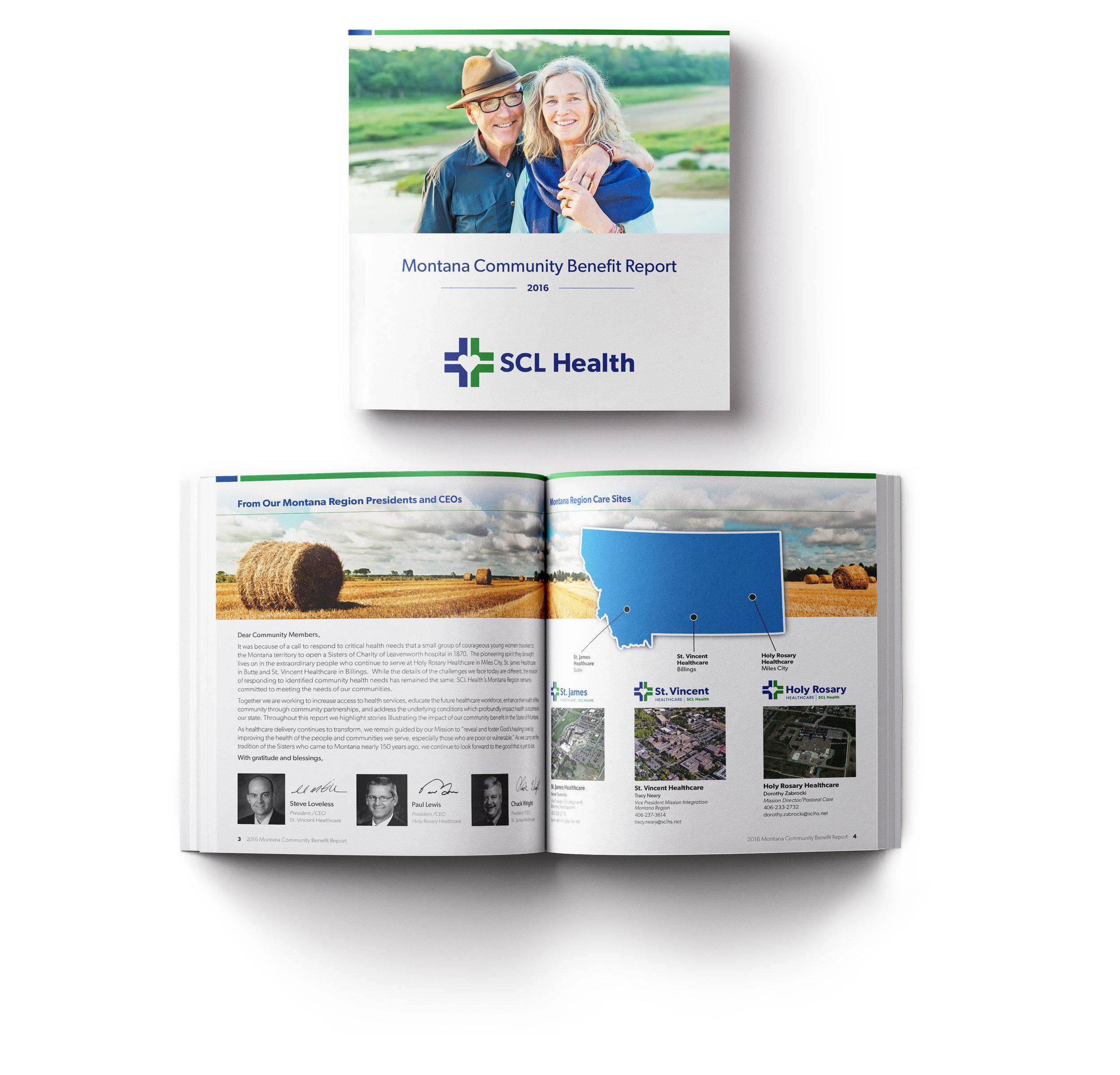 "SCL Montana Regional Report Booklet, 8"" x 8"""
