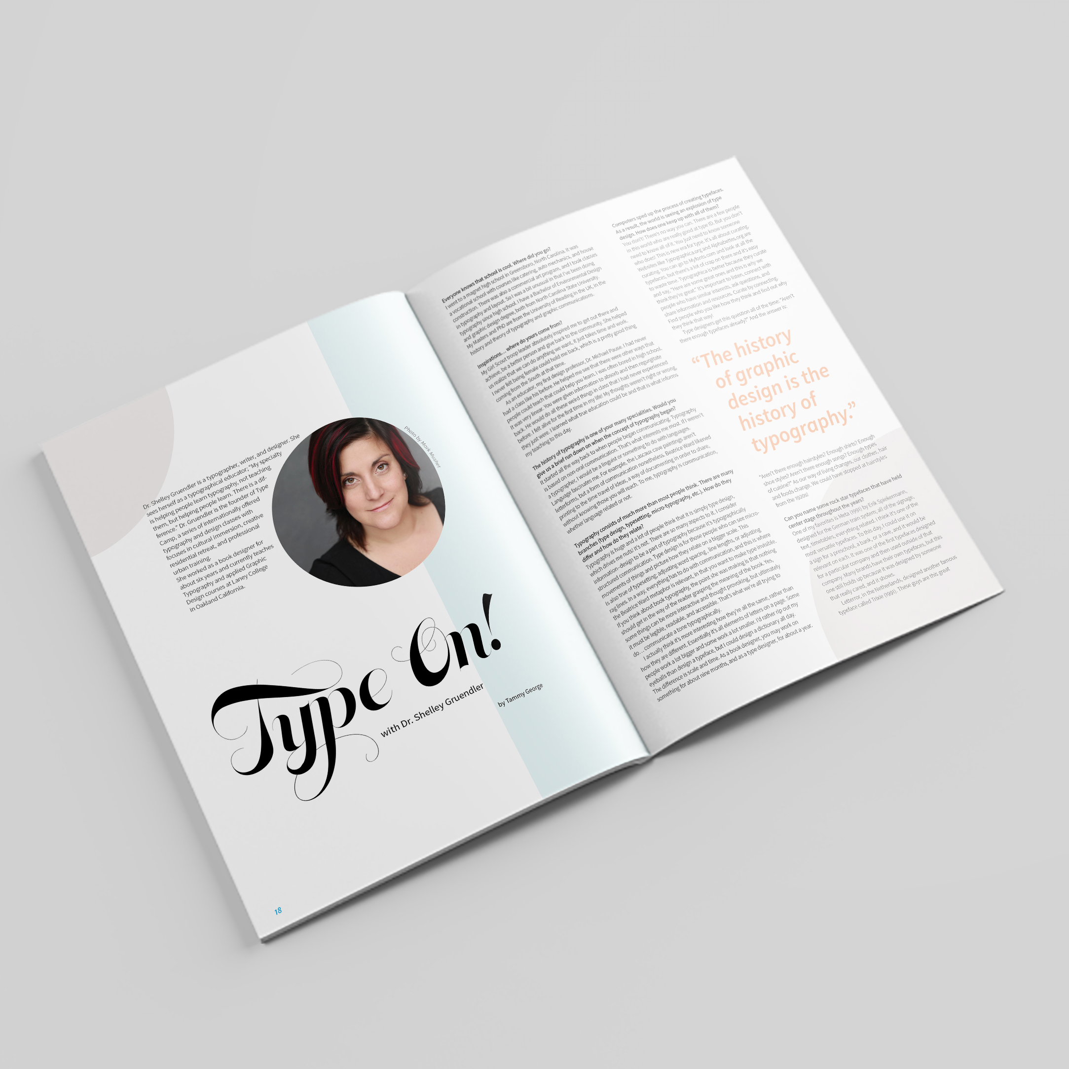 magazine pages typesetting illustration