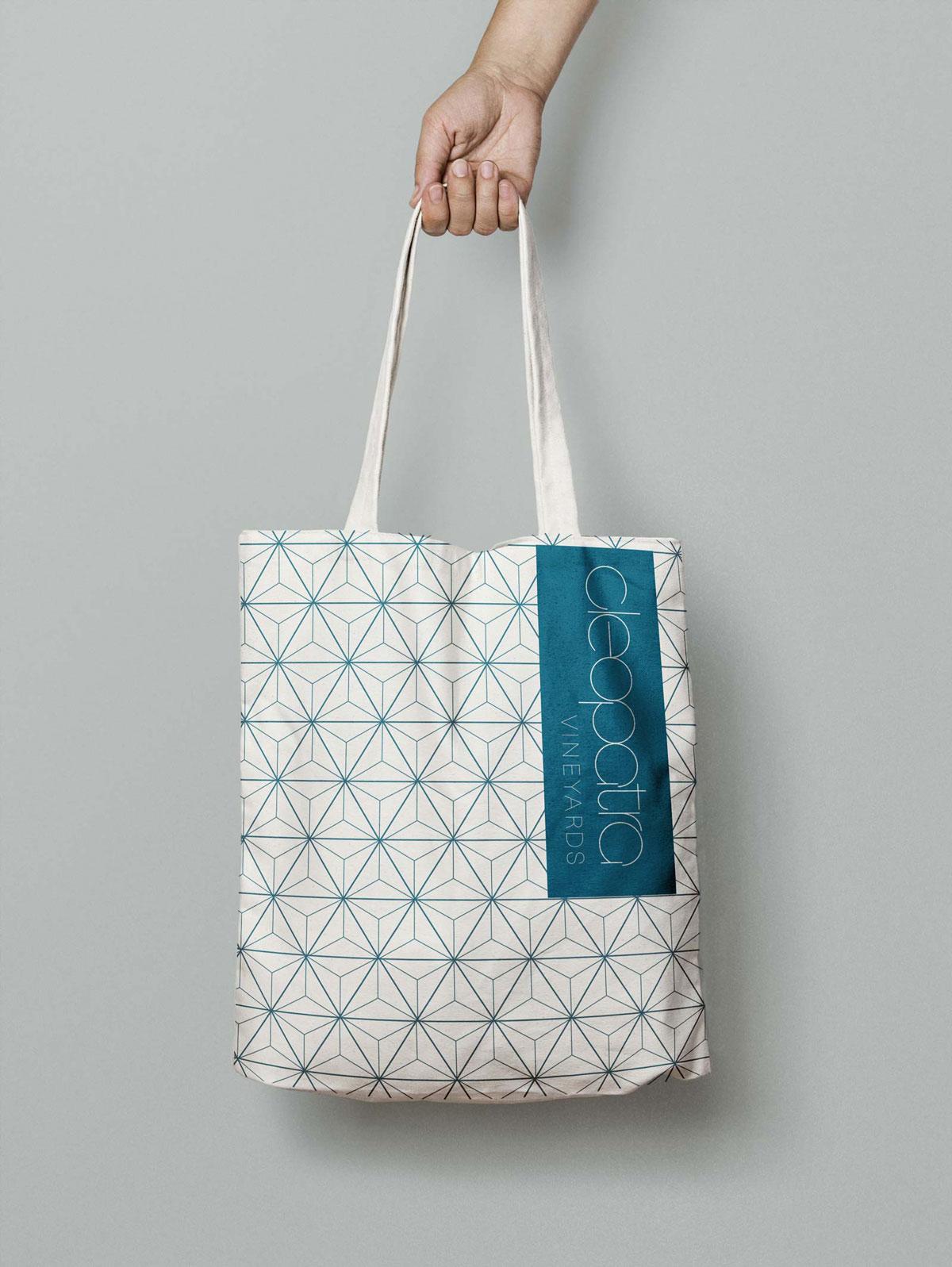 cleopatra brand identity canvas tote bag