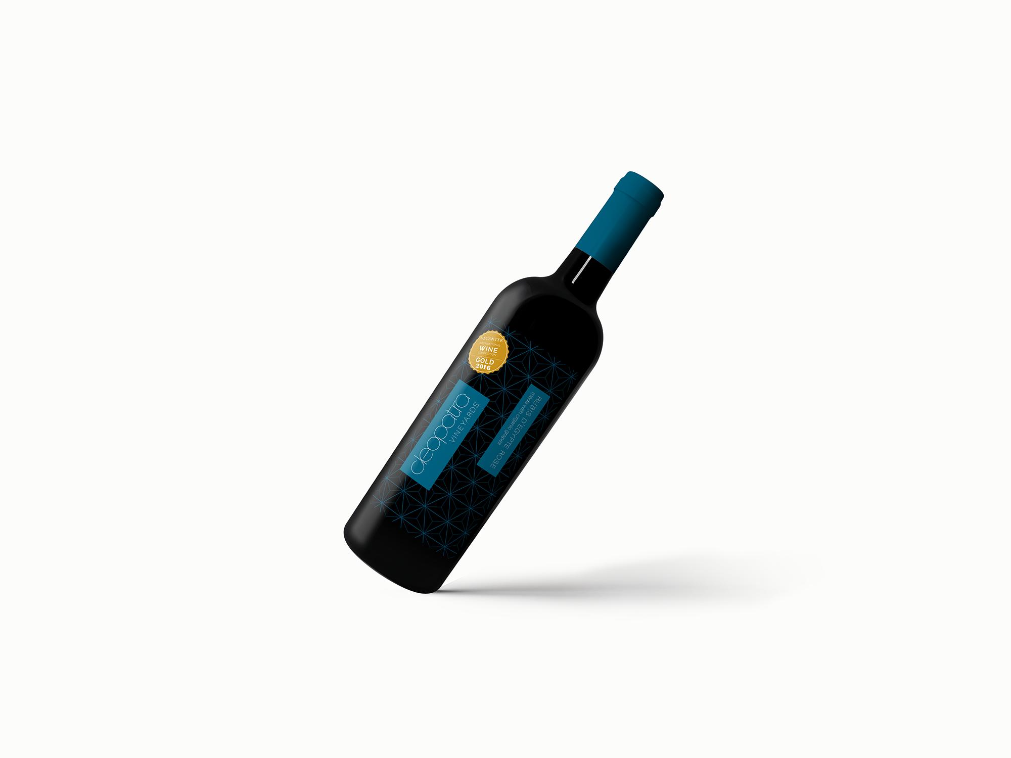 cleopatra brand identity packaging design wine bottle