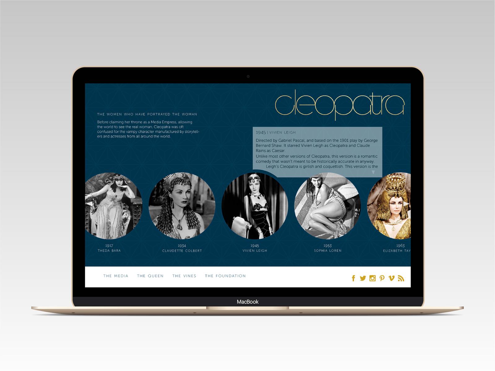cleopatra brand identity website