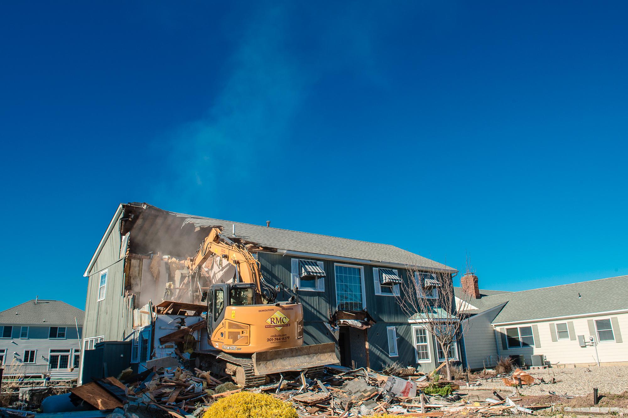 New Jersey demolition business; Industrial Photographywebsite photos; Landmark Image Group, David Lau