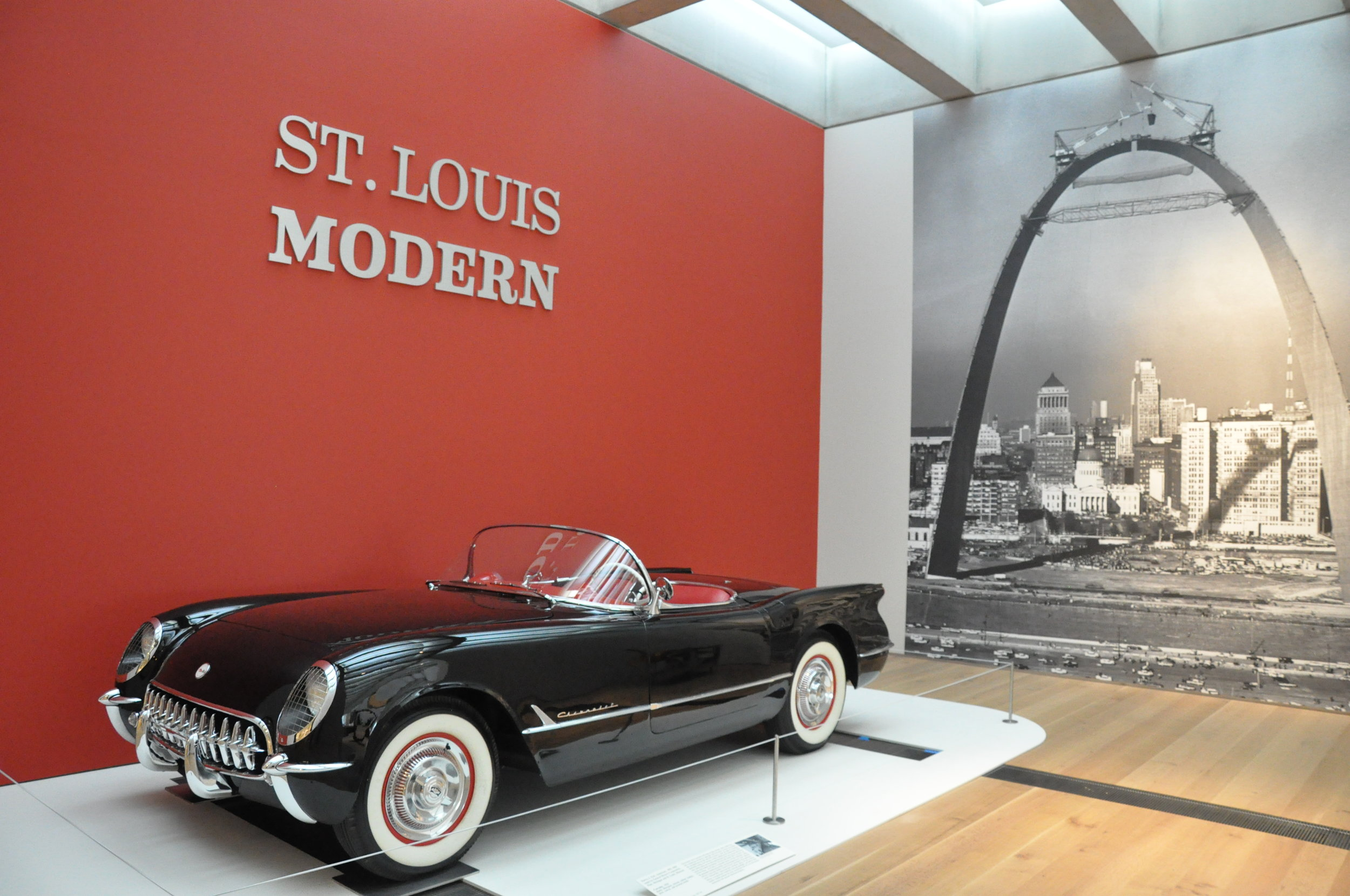 1954 CORVETTE PROVIDED ON LOAN BY HUNTER CLASSICS ST. LOUIS MISSOURI