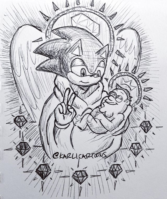 I've been really inspired by the master artists and their work that I saw recently in Florence #karlicartoons #florence #italy #michelangelo #masterartist #meme #cursedimage #sonicthehedgehog #cursedsonic #petergriffith #cursedpeter #familyguy #shitpost #cartoon #illustration #hilarious #madonnaandchild #classicalart #inks #pen #traditionalart #maryandjesus #religiousart #christianity #christiansonicfanart