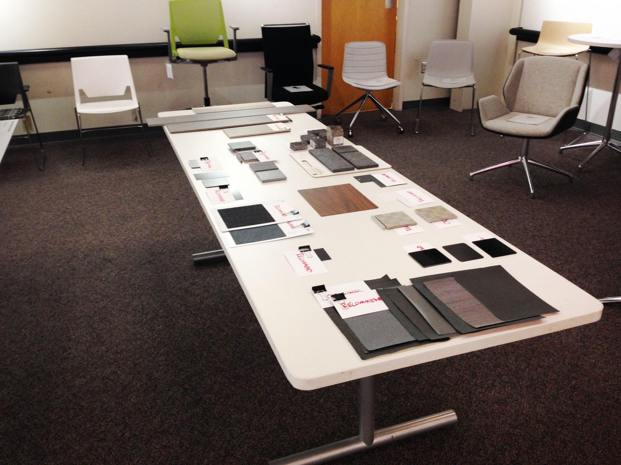Set up for client presentation