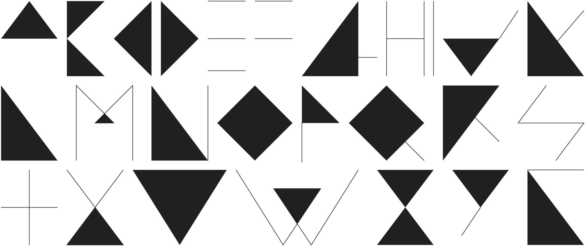 Hipster Triangles typeface