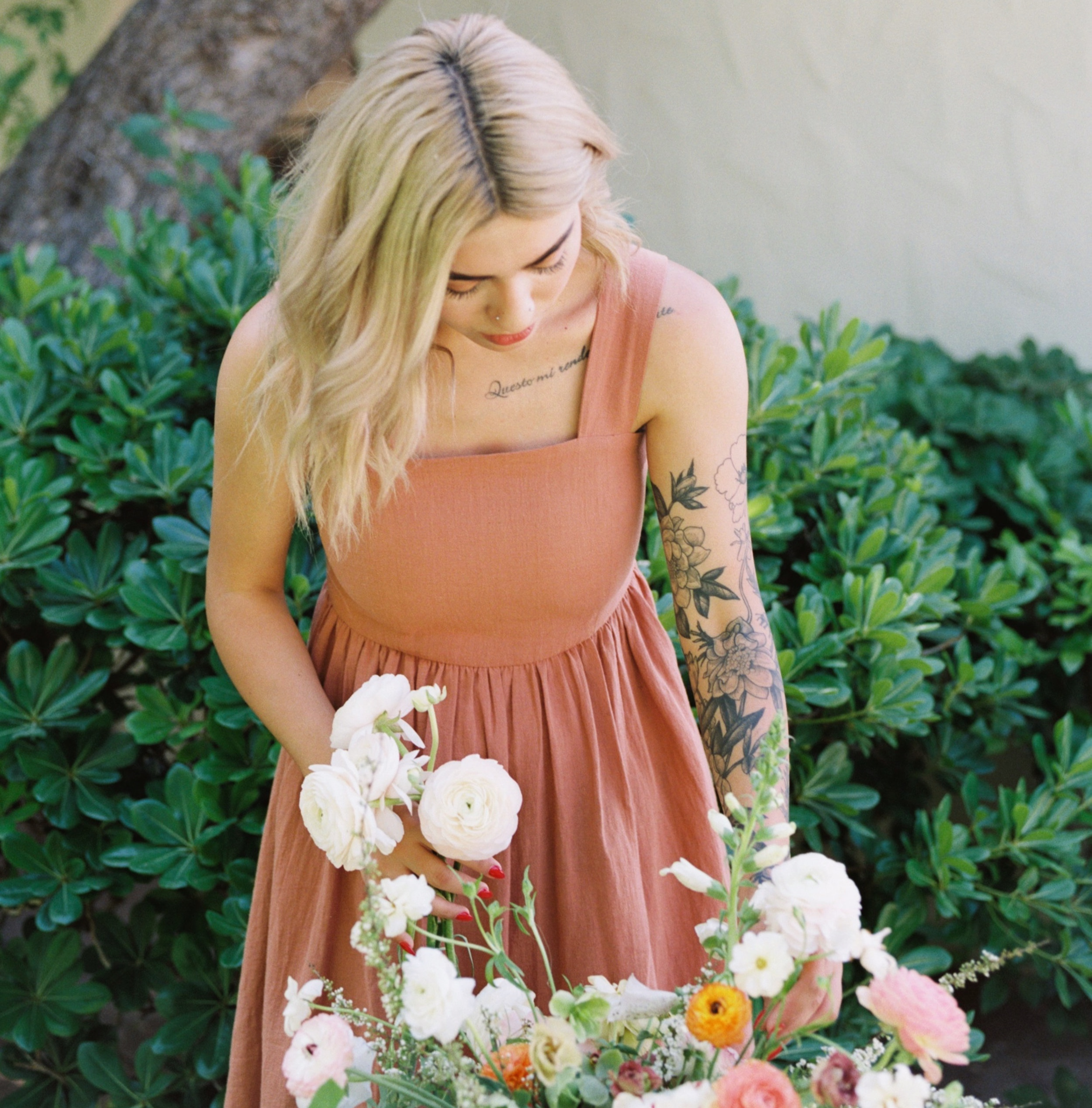 Nichollette - Nichollette is one of our full time designers and has been a Wildflower since 2015. Her strengths include her attention to detail and problem solving skills (she's quite the inventor.) Nichollette's floral designs truly reflect The Wildflower brand and are always romantic and thoughtful.