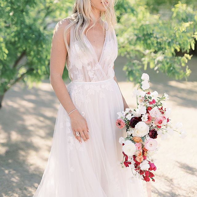 a bougainvillea inspired bouquet featured on @inspiredbythis  photography by the talented @andrewandada  planning: @mandymariecreative  venue: @venueonwashington  dress: @willowbywatters