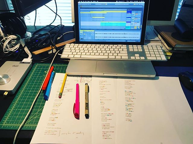 Back at it! Getting ready for our concert in March . . . . . #music #ableton #live #poetry #newmusic #electronics #installationart #livemusic