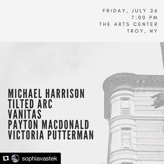 #Repost @sophiavastek with @get_repost ・・・ @tiltedarc returns!  It's been more than a year since we've performed and we're super stoked to be back in it.  Lots of new material in the works.  Plus, we're performing alongside some of the most inspiring musicians I know.  My mentor/colleague/dear friend @michael_harrison_music will perform original music with violinist @ictoria_v.  @payton.macdonald will perform a set of traditional Dhrupad.  Boston-based Vanitas (@nevets.gnol and Brittany Karlson) will do a set of experimental/free jazz.  And @tiltedarc has a set of ambient electronic music for you.  This will be one eclectic show.... it's troy night out.  see you there!