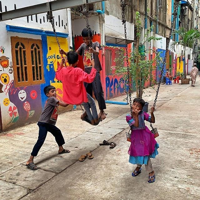 The back alleys between the crumbling old colonial era buildings in Yangon's downtown used to be padlocked shut & used as rubbish dumps. Thanks to the efforts of social enterprise @doheain_ygn bringing donors, residents and artists together, seven of the alleys have been rescued from the rubbish & turned into colourful liveable gardens spaces where kids can play & people can hang out.💚 // Caption & 📸: @nicholasrobin78
