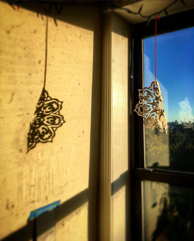 I need to clean my windows. #snowflakes #springtime #shadow