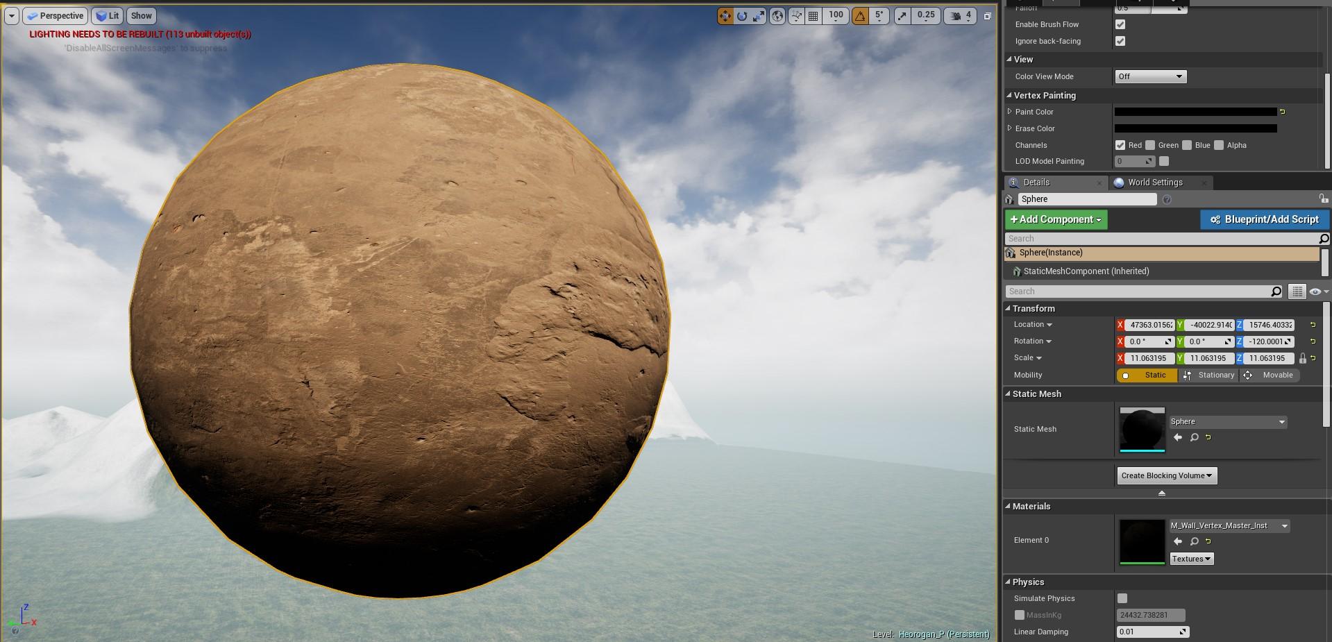 sphere no vertex painting