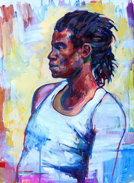 Eden  on Flickr.  Eden on canvas. 2.5 study with the East Bay Figure Painting Group.