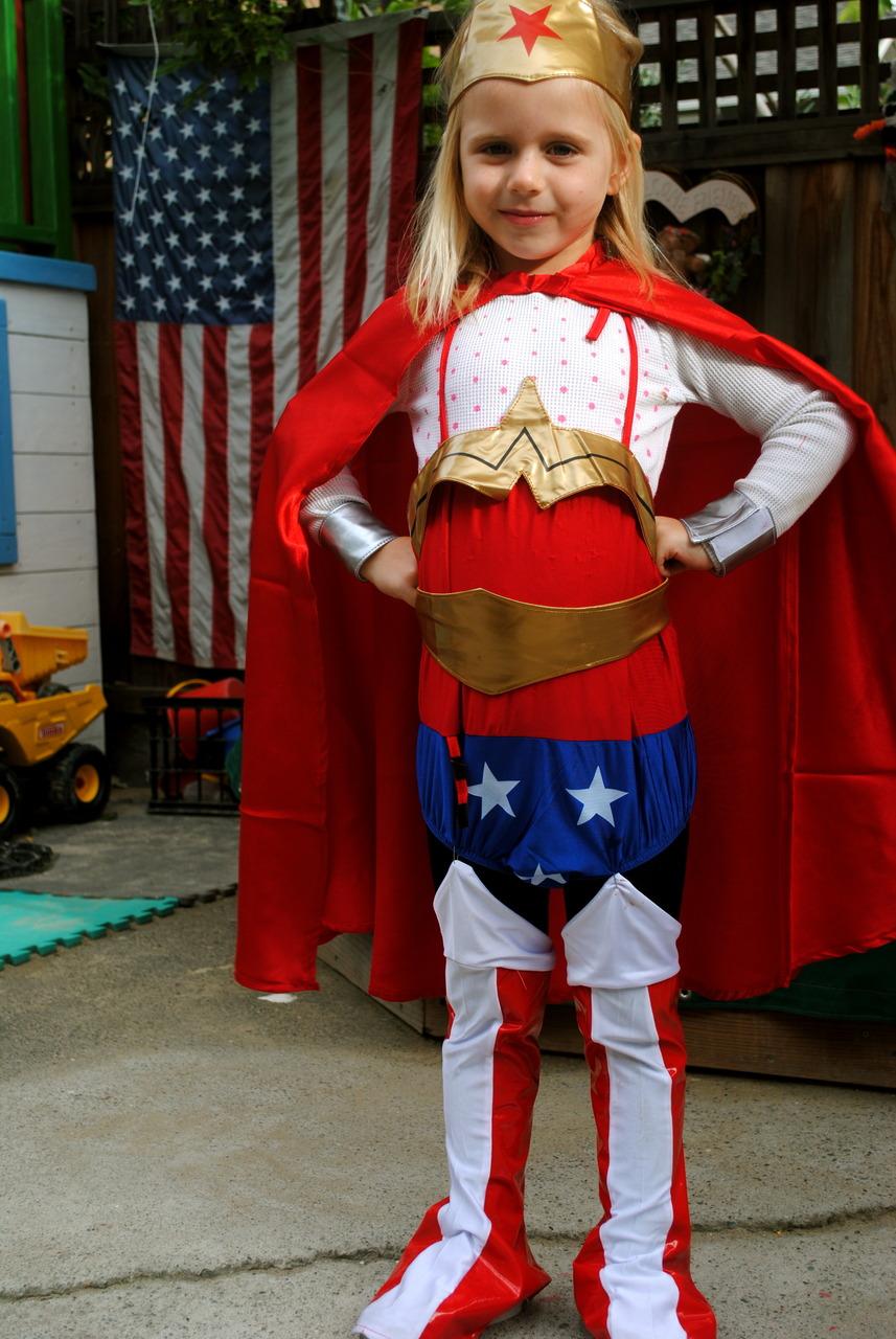 Happy Halloween! Wonder Woman takes on Oakland.