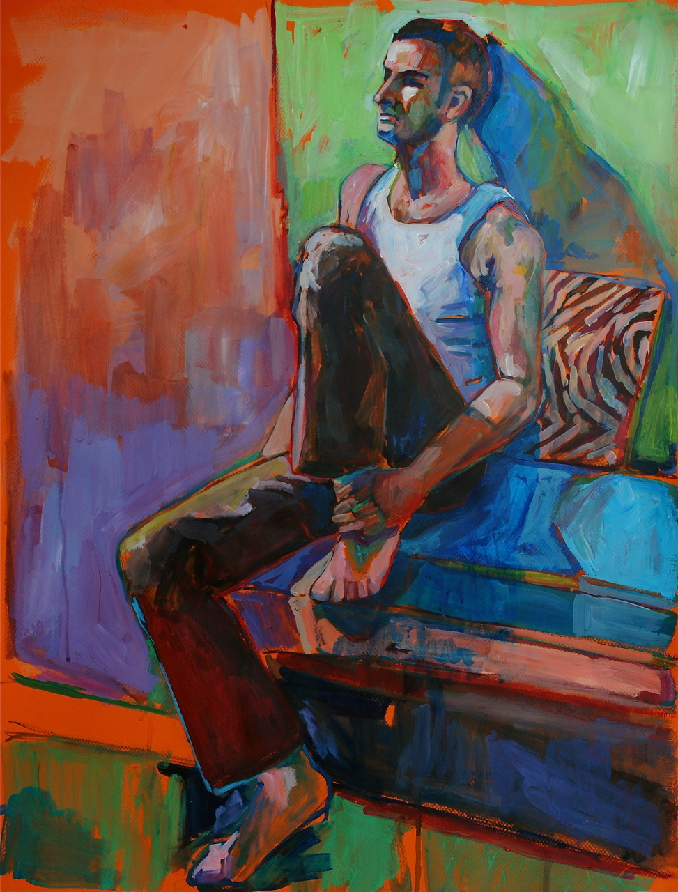 Alex. 3 hr study. Acrylic on Canson paper. 19 x 25 inches.