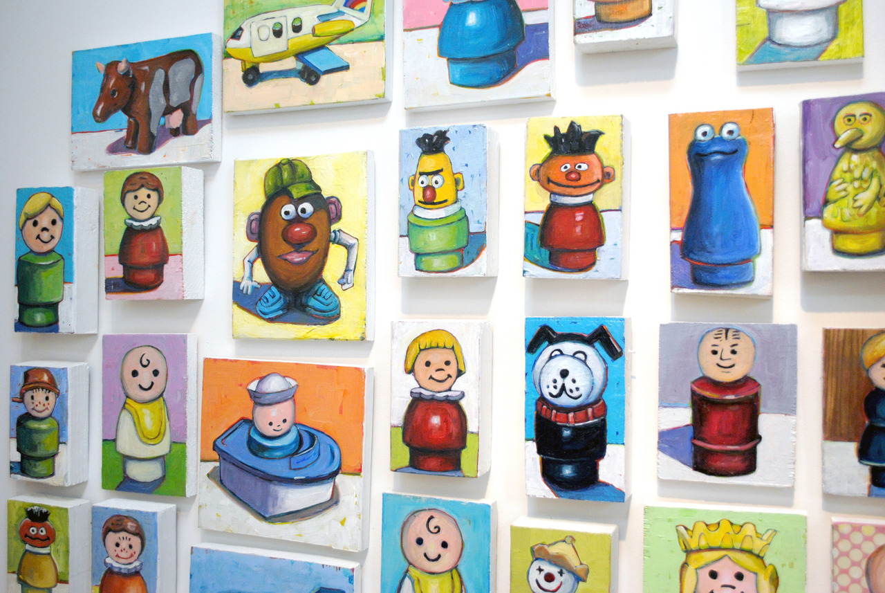 Check out my newest vintage toy paintings on recycled wood. All $50 or less in my  Etsy shop.