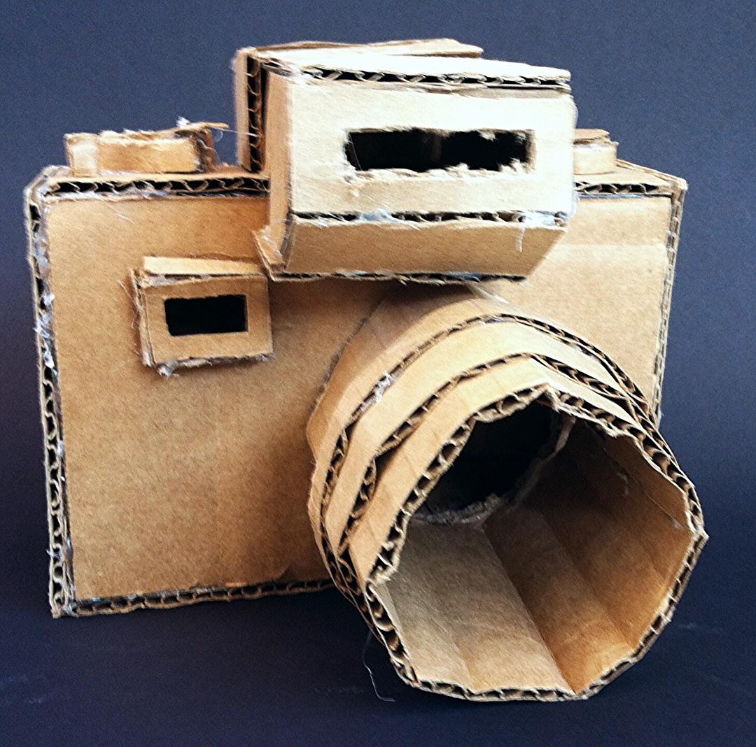 Cardboard sculpture project emphasizing planes