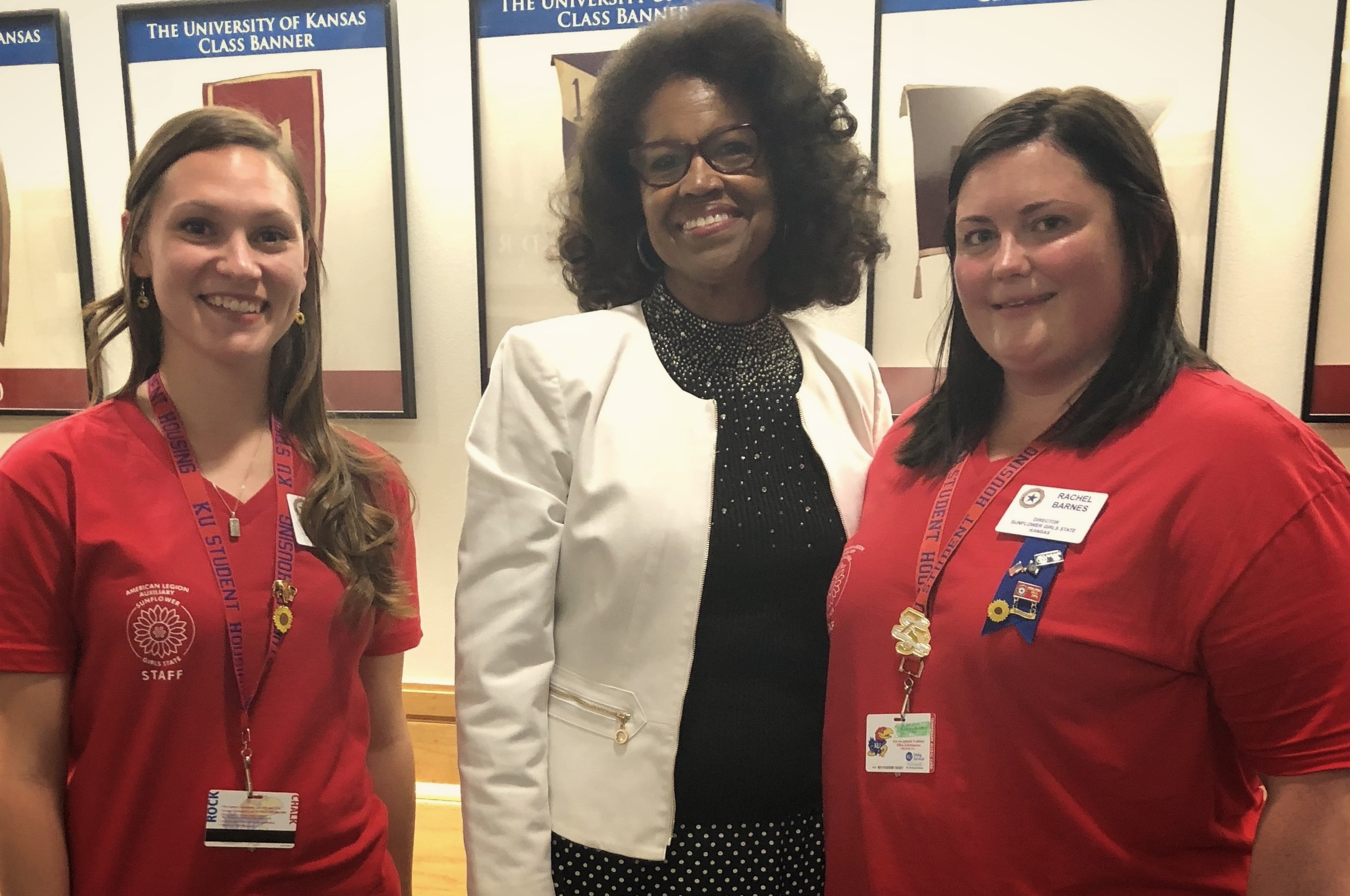 Assistant Director Lindsay Maudlin and Director Rachel Barnes with distinguished guest Dr. Barbara Ballard.