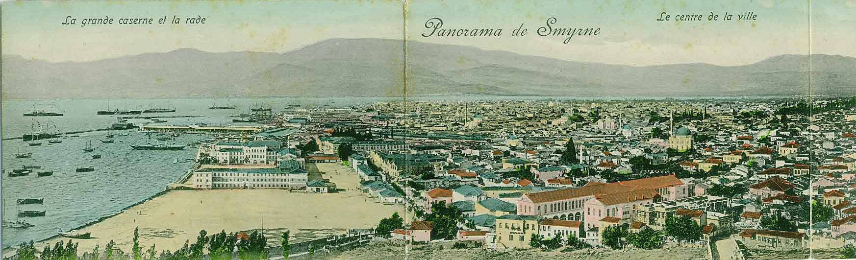 Panorama of Smyrna and its harbour, 1900
