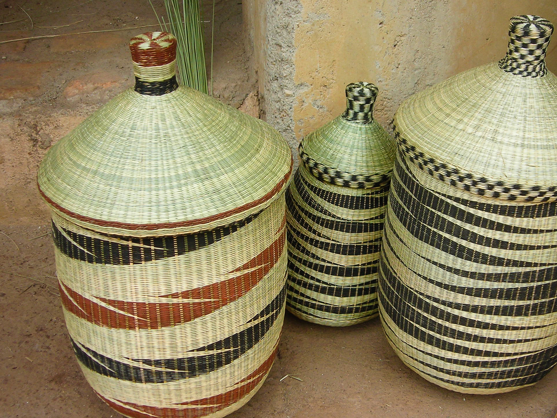 Baskets at the Butare market