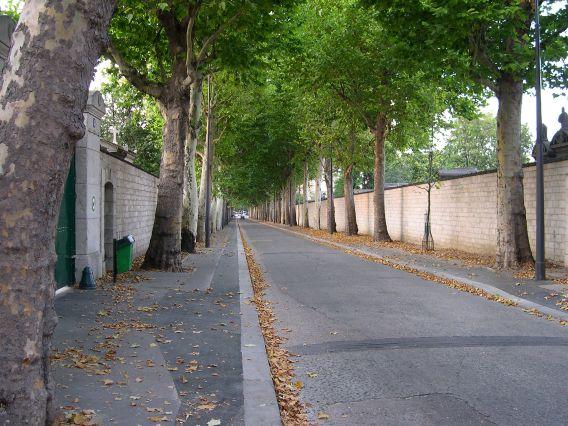 Rue Émile-Richard which cuts through Monparnasse Cemetery