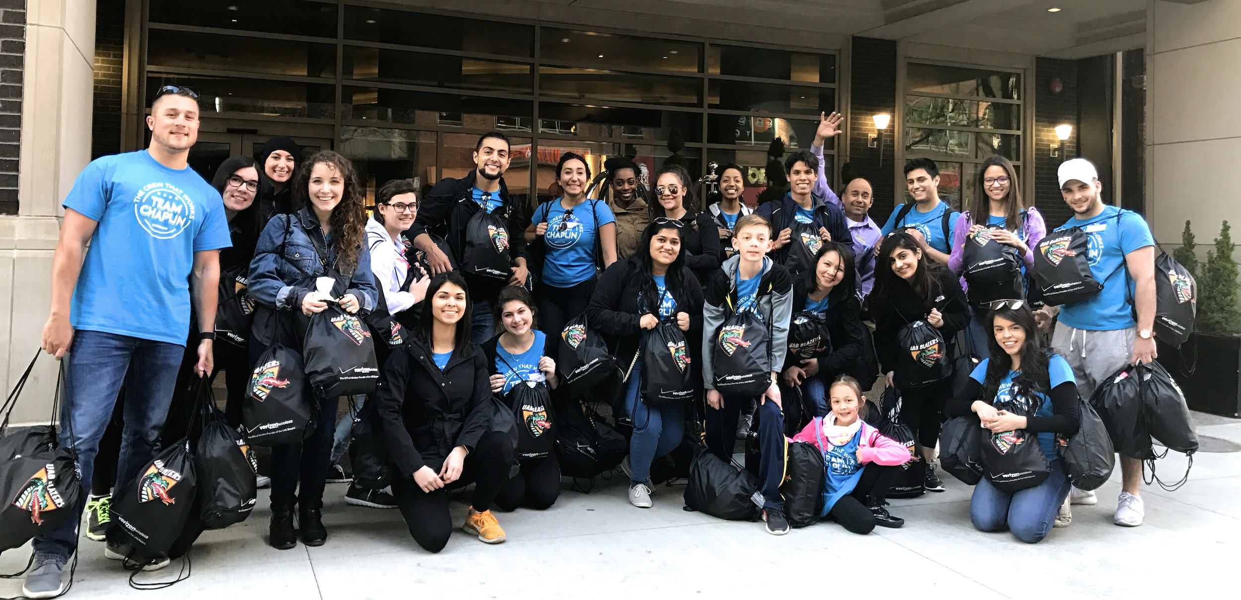 Sunday, April 23, 2017: Team Chaplin set out from Fairfield Inn & Suites by the Magnificent Mile to deliver food and care packages to the homeless.