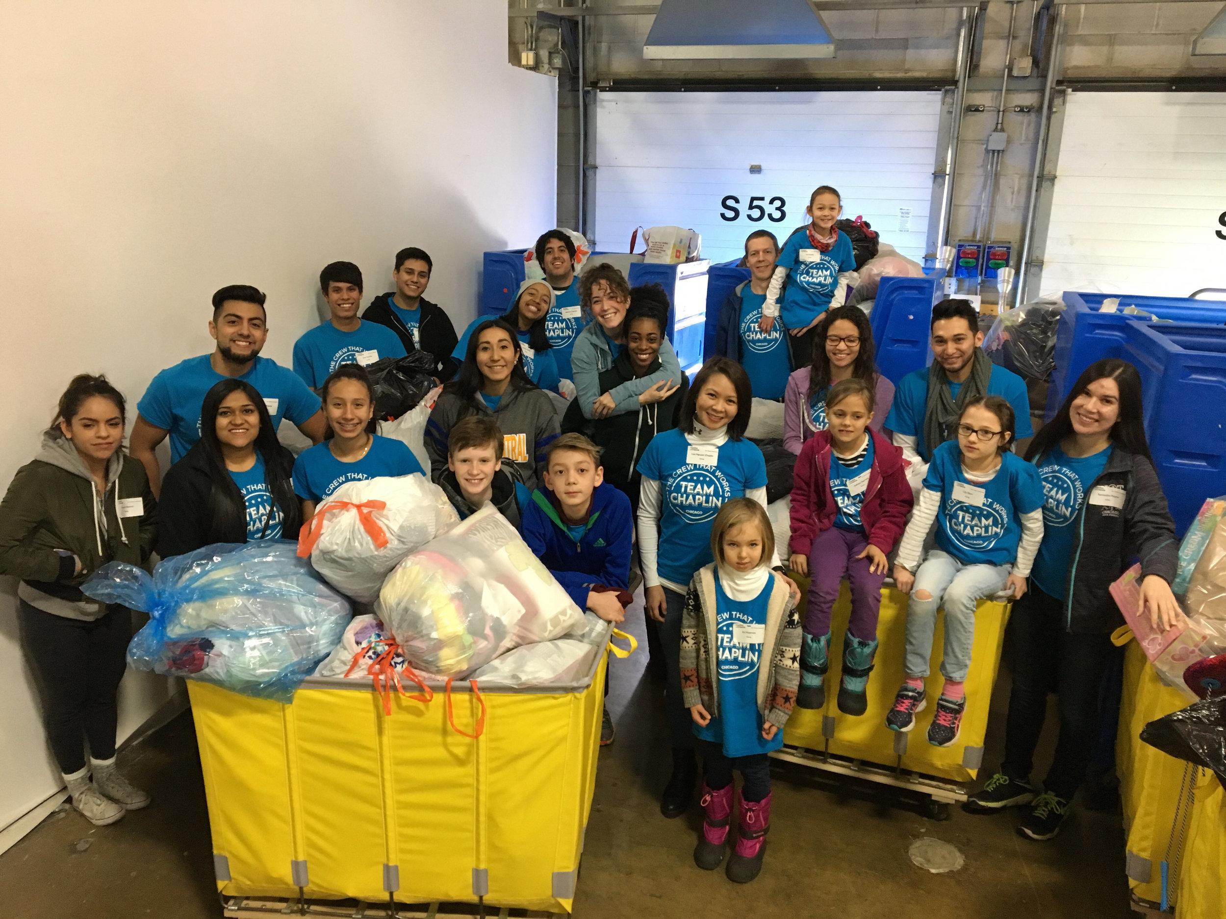 December 2017: Team volunteer shift at Cradles to Crayons