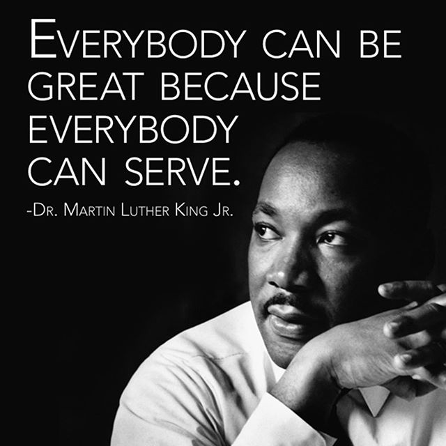 Happy Martin Luther King Jr. Day! May we remember his legacy today and everyday.