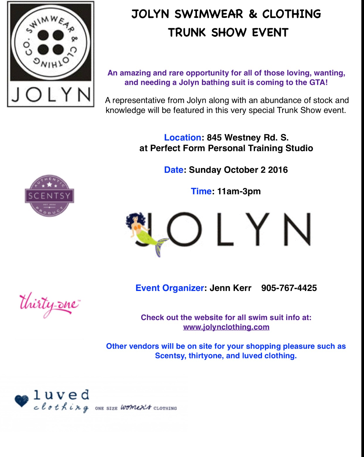 Hope to see all my Perfect Form Personal training Studio peeps at this super fun event!