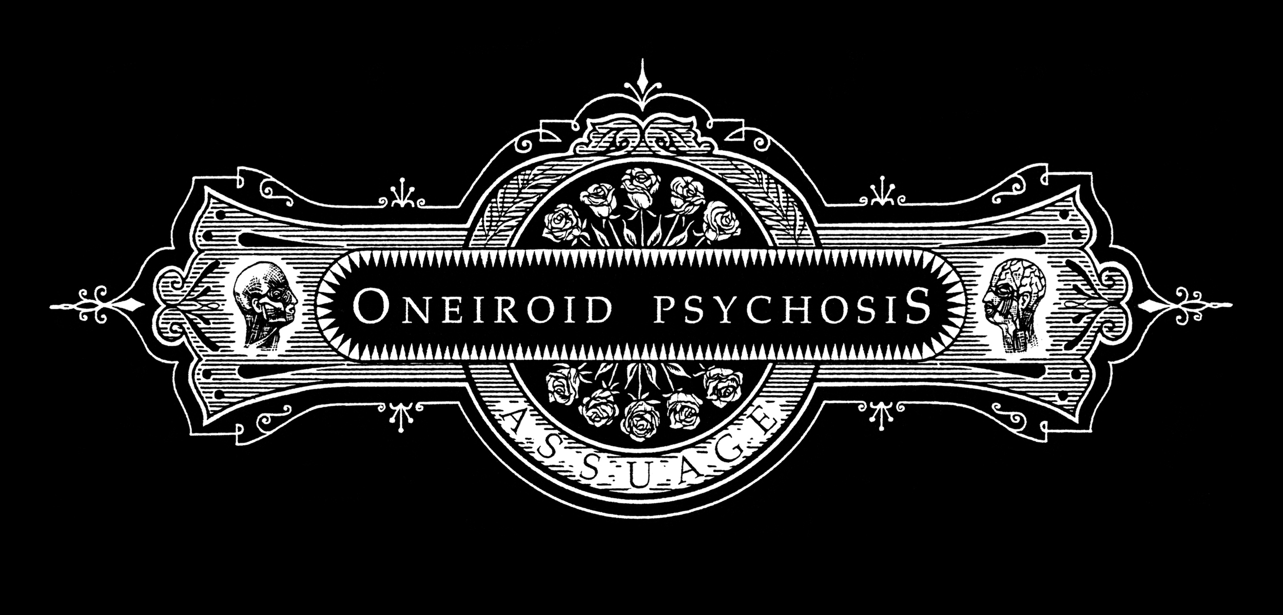 Oneiroid Psychosis,  Assuage . Title frame for CD single.  1996. Pen and ink, Scratch board.